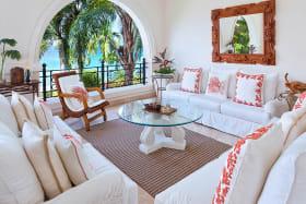Main floor terrace with fabulous sea views