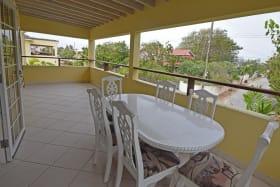 Upstairs balcony with sea views