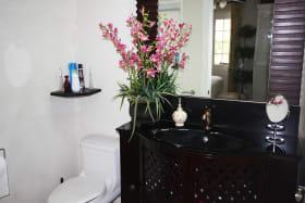 Custom built master bathroom