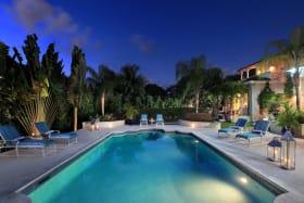 Pool at twilight
