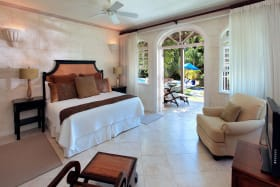 Bedroom overlooking pool side