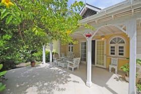 Front entrance of Coconut Cottage