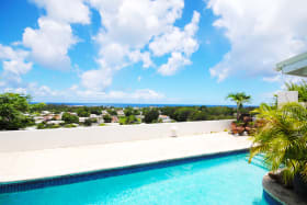 Wonderful view of the south coast from the pool deck