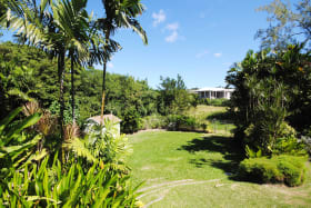 View of gardens towards additional plot of land