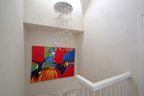 Staircase with lighting fixture