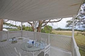 Large veranda with country views upper apartment