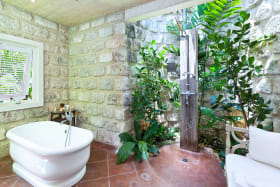 Master bathroom and open air shower