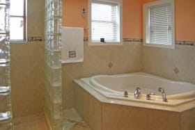 Bathroom With Shower & Tub