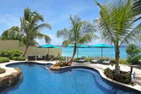 Pool overlooking the Caribbean Sea
