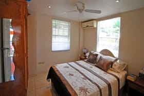 Air-conditioned Bedroom one on ground floor