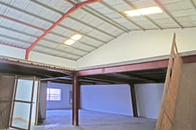 View of space and mezzazine level