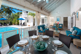 Al Fresco Dining area leading to pool deck
