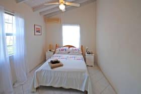 Bedroom one in upper apartment