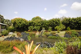 Well landscaped gardens and lake