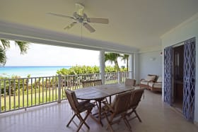 Expansive patio with Caribbean Sea views