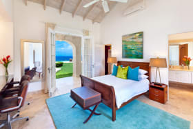 Bedroom 2 has sea views