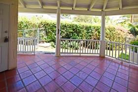 Back patio in Sairah, Durants