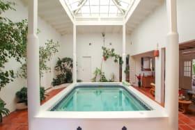Indoor pool off of living room