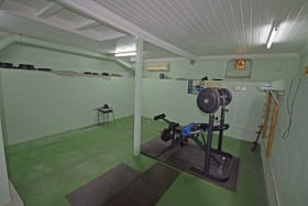 Basement level being used as a gym