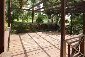 Large Wooden Deck great for Entertaining