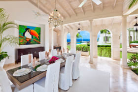 Dining room open to the wonderful sea views