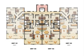 Floor plan of Units at Lighthouse Bay
