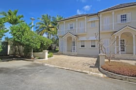 Front of unit with private driveway