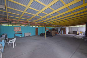Covered parking/ storage area