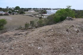 Cleared elevated lot showing view of the neighbourhood