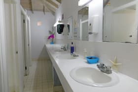 Large Male and Female bathrooms by the bar and restaurant on the main level