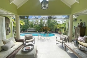 Spacious terrace and pool deck
