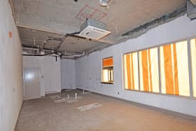 Interior of the space - Already plumbed