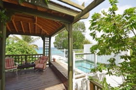 Covered deck with plunge pool