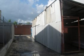 View of storage sheds to rear