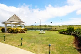 Gazebo & tennis courts