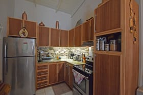 Kitchen with a great backsplash