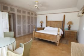 Spacious master suite with private sun deck