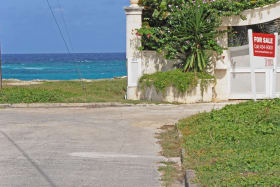 Ocean view from south east corner of lot