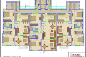 Floor Plan of a 2 Bed unit