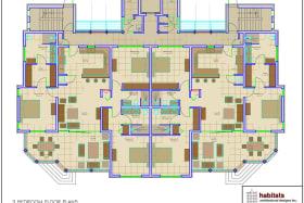 Floor Plan of a 3 bedroom Unit