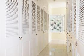 Double cupboards in the main bedroom