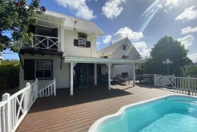 Attractive home with expansive deck