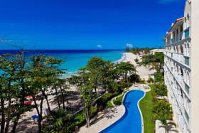 Pool and Beautiful Caribbean Sea
