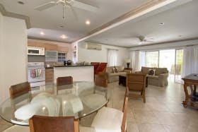 Open plan kitchen, living and dining