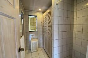 Walk in shower and additional storage