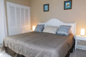 Large King Bed in A/C bedroom