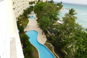 Pools and beach front views and access