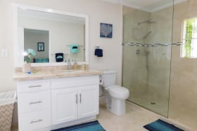 Large Shower in the Master bathroom