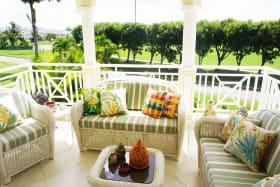 Balcony facing the gardens