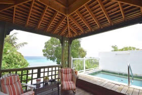 Plunge pool and relaxing verandah for Cottage no 2